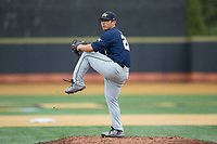 Georgia Tech Yellow Jackets relief pitcher Jared Datoc (28) in action against the Wake Forest Demon Deacons at David F. Couch Ballpark on March 26, 2017 in  Winston-Salem, North Carolina.  The Demon Deacons defeated the Yellow Jackets 8-4.  (Brian Westerholt/Four Seam Images)