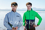 Enjoying a puck around in Ballyheigue on Sunday, l to r: Cormac Slattery and Gerard Carroll.