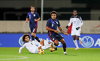 WIENER NEUSTADT, AUSTRIA - NOVEMBER 16: Weston McKennie #8 of the United States turns and moves with the ball during a game between Panama and USMNT at Stadion Wiener Neustadt on November 16, 2020 in Wiener Neustadt, Austria.