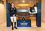 Jacqueline Lai, Masters rider, poses for a photograph at Longines Hong Kong Masters official press conference at the Happy Valley Racetrack on February 02, 2016 in Hong Kong.  Photo by Victor Fraile / Power Sport Images
