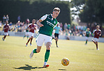 30.06.18 Linlithgow Rose v Hibs: Oli Shaw runs in to score but is correctly flagged for offside