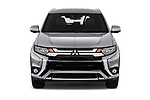 Car photography straight front view of a 2019 Mitsubishi Outlander PHEV Intense 5 Door SUV