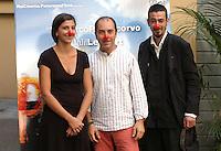 "EVITA CIRI, MARCO PONTECORVO & MILOUD OUKILI.Photocall for the film ""Parada"" in .Rome, Italy, September 17th 2008..half length red noses funny cast .CAP/CAV.©Luca Cavallari/Capital Pictures"
