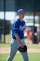 Kansas City Royals starting pitcher Zach Haake (26) walks off the field between innings of an Instructional League game against the Chicago White Sox at Camelback Ranch on September 25, 2018 in Glendale, Arizona. (Zachary Lucy/Four Seam Images)