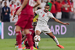 Ali Hassan Ali Salmin of United Arab Emirates (R) fights for the ball with Almoez Ali of Qatar (bottom) during the AFC Asian Cup UAE 2019 Semi Finals match between Qatar (QAT) and United Arab Emirates (UAE) at Mohammed Bin Zaied Stadium  on 29 January 2019 in Abu Dhabi, United Arab Emirates. Photo by Marcio Rodrigo Machado / Power Sport Images