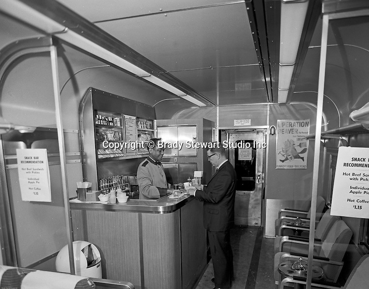 Pittsburgh PA: Inside view of the new PA Railroad Passenger Club Car.