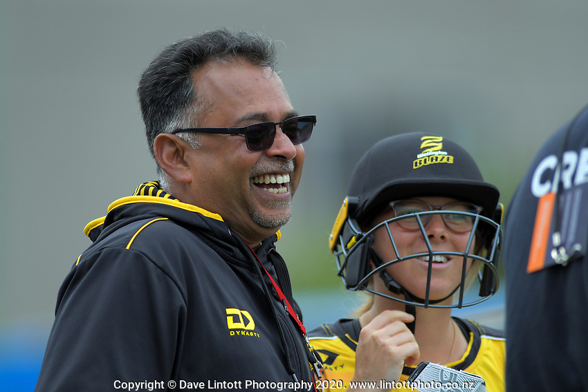 Blaze coach Ivan Tissera during the women's Dream11 Super Smash cricket match between the Wellington Blaze and Northern Spirit at Basin Reserve in Wellington, New Zealand on Friday, 3 January 2020. Photo: Dave Lintott / lintottphoto.co.nz