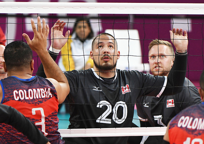 Jesse Buckingham, Lima 2019 - Sitting Volleyball // Volleyball assis.<br /> Canada competes in men's Sitting Volleyball // Canada participe au volleyball assis masculin. 24/08/2019.