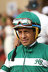 """DEL MAR, CA  JULY 30: Victor Espinoza enters the paddock before the Clement L. Hirsch Stakes (Gl) """"Win and You're in Breeders' Cup Distaff Division"""" at Del Mar Turf Club in Del Mar, CA on July 30, 2016. (Photo by Casey Phillips/Eclipse Sportswire/Getty Images)DEL MAR, CA  JULY 30: #2 Stellar Wind with Victor Espinoza beat Beholder and Gary Stevens in the Clement L. Hirsch Stakes (Gl) """"Win and You're in Breeders' Cup Distaff Division"""" at Del Mar Turf Club in Del Mar, CA on July 30, 2016. (Photo by Casey Phillips/Eclipse Sportswire/Getty Images)"""