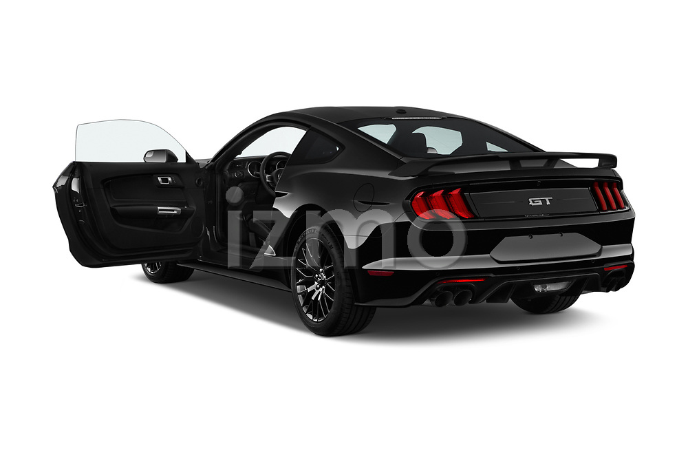 Car images close up view of a 2018 Ford Mustang GT 2 Door Coupe doors