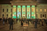 22 febbraio 2021, manifestazione per la riapertura degli spazi della cultura, cinema, teatri