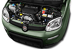 Car Stock 2016 Fiat Panda-4X4 Pop 5 Door Hatchback Engine  high angle detail view
