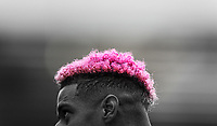A close-up showing the hair of Nottingham Forest's Lyle Taylor<br /> <br /> Photographer Alex Dodd/CameraSport<br /> <br /> The EFL Sky Bet Championship - Blackburn Rovers v Nottingham Forest - Saturday 17th October 2020 - Ewood Park - Blackburn<br /> <br /> World Copyright © 2020 CameraSport. All rights reserved. 43 Linden Ave. Countesthorpe. Leicester. England. LE8 5PG - Tel: +44 (0) 116 277 4147 - admin@camerasport.com - www.camerasport.com