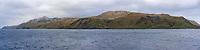 View of Macquarie Island, Australia in the Subantarctic Islands.