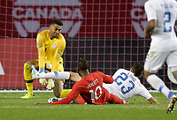 TORONTO, ON - OCTOBER 15: Zack Steffen #1 of the United States gets down low to save a ball during a game between Canada and USMNT at BMO Field on October 15, 2019 in Toronto, Canada.