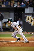 Siena Saints shortstop Max Goione (7) during a game against the UCF Knights on February 17, 2017 at UCF Baseball Complex in Orlando, Florida.  UCF defeated Siena 17-6.  (Mike Janes/Four Seam Images)