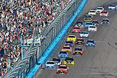 2017 Monster Energy NASCAR Cup Series<br /> Camping World 500<br /> Phoenix International Raceway, Avondale, AZ USA<br /> Sunday 19 March 2017<br /> Kyle Busch, Skittles Toyota Camry and Kyle Larson<br /> World Copyright: Nigel Kinrade/LAT Images<br /> ref: Digital Image 17PHX1nk10207