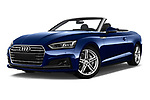Stock pictures of low aggressive front three quarter view of 2017 Audi A5 Sport 2 Door Convertible Low Aggressive