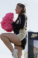 Purdue cheerleader. The Michigan Wolverines defeated the Purdue Boilermakers 44-13 on October 6, 2012 at Ross-Ade Stadium in West Lafayette, Indiana.
