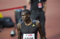 26th August 2021; Lausanne, Switzerland;  Arop wins the mens 800m during Diamond League athletics meeting  at La Pontaise Olympic Stadium in Lausanne, Switzerland.
