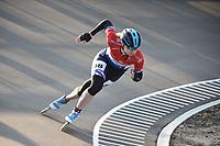 INLINESKATEN: ROTTERDAM: 07-05-2021, Sportpark Noordrand, KNSB Topsport inlineskatewedstrijden, Moniek Klijnsma, ©foto Martin de Jong