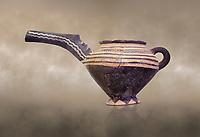 """Minoan Vasiliki Ware long spouted """"teapots"""", Vasiliki 2300-1900 BC BC, Heraklion Archaeological  Museum."""
