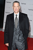 """Tom Hanks<br /> arriving for the European premiere of """"The Post"""" at the Odeon Leicester Square, London<br /> <br /> <br /> ©Ash Knotek  D3368  10/01/2018"""