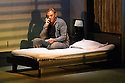 London, UK. 07.07.2016. Ex Machina/Robert Lepage presents NEEDLES AND OPIUM, written and directed by Robert Lepage, at the Barbican Theatre. Jean Cocteau and the unnamed actor are played by Marc Labreche, with Miles Davis being played by Wellesley Robertson III. Picture shows: Marc Labreche (unnamed actor). Photograph © Jane Hobson.