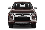 Car photography straight front view of a 2020 Mitsubishi L200 Intense 4 Door Pick-up Front View