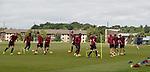 Hearts squad at training