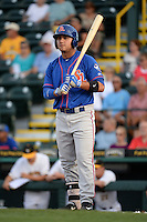 St. Lucie Mets outfielder Michael Conforto (21) at bat during a game against the Bradenton Marauders on April 11, 2015 at McKechnie Field in Bradenton, Florida.  St. Lucie defeated Bradenton 3-2.  (Mike Janes/Four Seam Images)