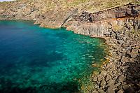 Cala Cinque Denti, north-eastern side of Pantelleria Island, Italy, Mediterranean Sea