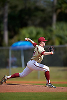 Boston College Eagles starting pitcher Zach Stromberg (40) delivers a pitch during a game against the Central Michigan Chippewas on March 8, 2016 at North Charlotte Regional Park in Port Charlotte, Florida.  Boston College defeated Central Michigan 9-3.  (Mike Janes/Four Seam Images)