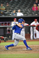 ***Temporary Unedited Reference File***Omaha Storm Chasers catcher Parker Morin (21) during a game against the Memphis Redbirds on May 5, 2016 at AutoZone Park in Memphis, Tennessee.  Omaha defeated Memphis 5-3.  (Mike Janes/Four Seam Images)