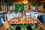 Enjoying the evening in Benners on Friday, l to r: Laura McCarthy, John Flynn, James O'Connor, Sean Hanafin, Aidan Lennon, Cathal O'Connor, Jonathan Ross, Mark Lucey and Michelle O'Connor.