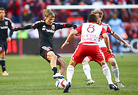 Harrison, NJ. - Sunday, March 22, 2015: The New York Red Bulls defeated D.C United 2-0 in a MLS match at Red Bull Arena.