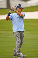 April 29th 2021, The Woodlands, Texas USA;  MLB Hall of Famer Reggie Jackson watches his second shot on 1 during the preview of the 2021 Insperity Invitational at The Woodlands Country Club on April 29, 2021 in The Woodlands, Texas.