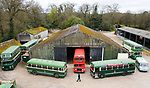 Pictured: James Freeman, Chairman of The Friends of King Alfred Buses inspects the fleet of vintage vehicles at the bus depot near Romsey, Hants during what would typically be a busy period leading up to the King Alfred Buses Running Day event, which has been cancelled this year due to the coronavirus pandemic. <br /> The annual event, usually held in May sees 20 heritage buses from as early as the 1950s providing free services through the city of Winchester and surrounding villages. <br /> <br /> <br /> The Friends of King Alfred Buses have taken the decision to cancel this years event, citing the effects of the coronavirus pandemic and the uncertainty around what kind of public events are permissible in the next few months. <br /> <br /> The vintage buses are still expected to play a part at Winchester Heritage Open Days in September of this year. <br /> <br /> © Jordan Pettitt/Solent News & Photo Agency<br /> UK +44 (0) 2380 458800