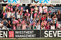 Essex fans celebrate a boundary during Essex Eagles vs Kent Spitfires, Vitality Blast T20 Cricket at The Cloudfm County Ground on 30th August 2019