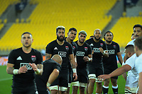 North forwards wait for a lineout throw during the rugby match between North and South at Sky Stadium in Wellington, New Zealand on Saturday, 5 September 2020. Photo: Dave Lintott / lintottphoto.co.nz