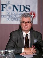 File Photo<br /> Clement Godbout, Fond de Solidarite de la FTQ - FTQ Solidarity Fund<br /> <br /> Photo (c) P Roussel / Images Distribution
