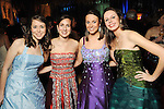 From left: Duchesses Margo Flynn, Courtney Jay, Katie Nelson and Katy Odom at the San Luis Salute hosted by Paige and Tilman Fertitta in Galveston Friday Feb. 12,2010.(Dave Rossman Photo)