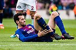 Sergio Busquets of FC Barcelona reacts during the La Liga 2017-18 match between FC Barcelona and RC Celta de Vigo at Camp Nou Stadium on 02 December 2017 in Barcelona, Spain. Photo by Vicens Gimenez / Power Sport Images