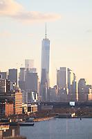 Blick auf das World Trade Center in Manhattan und den Freedom Tower