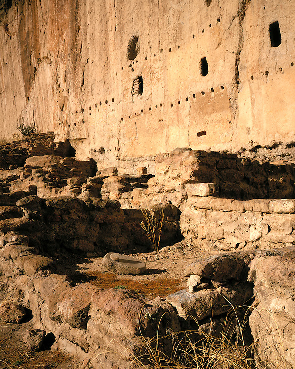 Longhouse Ruins; Bandelier National Monument, NM