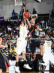 Grambling State Tigers forward Lance Feurtado (20) in action during the SWAC Championship game between the Alabama State Hornets and the Grambling State Tigers at the Special Events Center in Garland, Texas. Alabama State defeats Grambling State 65 to 48.