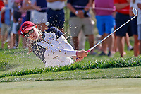 5th September 2021: Toledo, Ohio, USA;  Jennifer Kupcho of Team USA hits her shot out of the sand on the 13th hole during the afternoon Four-ball competition during the Solheim Cup on September 5, 2021 at Inverness Club in Toledo, Ohio. Europe retained the Solheim Cup with a hard-fought 15-13 victory over the United States