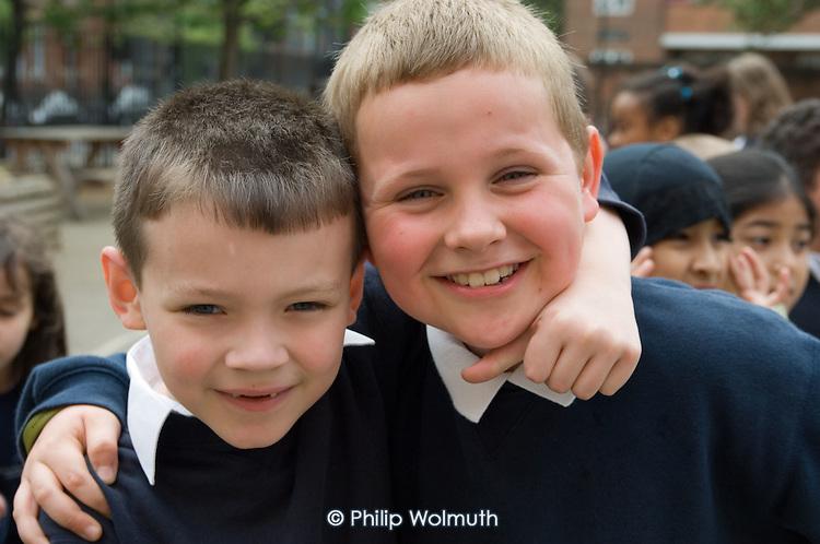 Playtime at Christ Church Bentinck  C of E Primary School, Marylebone. London