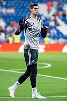 Real Madrid Thibaut Courtois during La Liga match between Real Madrid and Getafe CF at Santiago Bernabeu in Madrid, Spain. August 19, 2018.  *** Local Caption *** © pixathlon