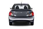 Straight rear view of 2019 Nissan Versa-Sedan SV 4 Door Sedan Rear View  stock images